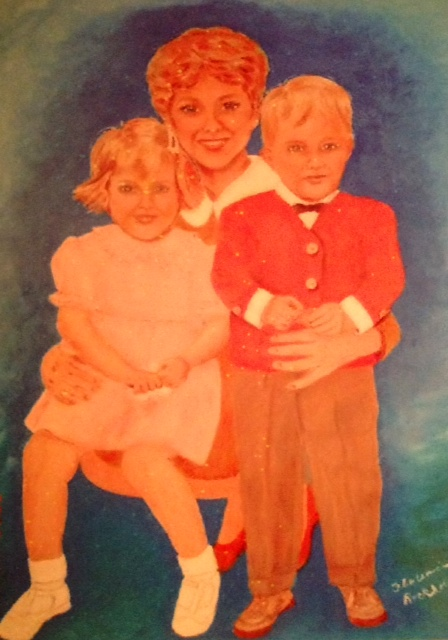 Portrait of my daughter and her two children
