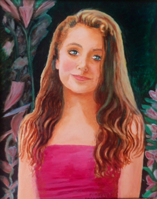 A portrait of my granddaughter Sarah Christina Drake I painted in 2014.